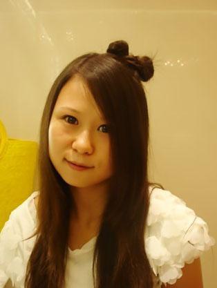 可爱lady gaga的米奇头盘发图解教程(三)