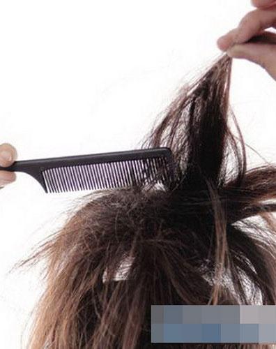 长头发的盘法图解