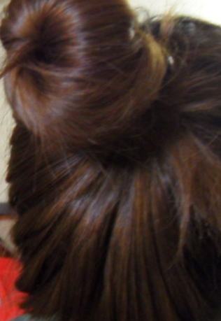 简单的韩式盘发