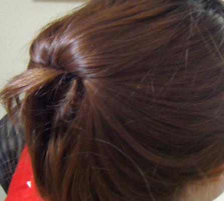 简单的韩式盘发(三)