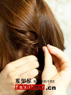 短发盘发的方法(二)