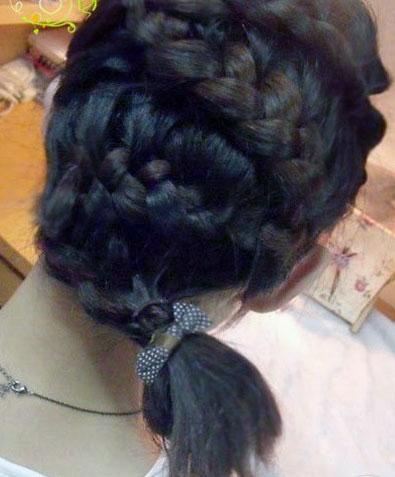 盘发的样式(二)