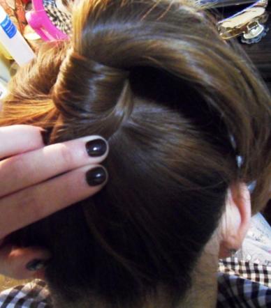 学生盘发的方法(二)