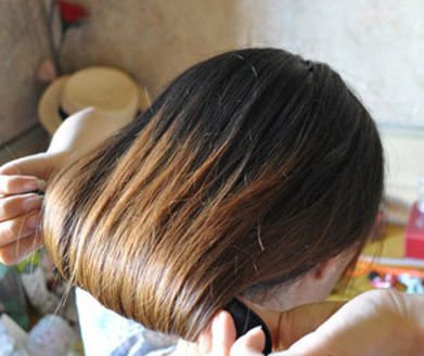 韩式盘头发的方法