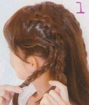 编发+马尾=可爱秀发(二)