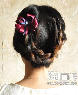 盘发的方法图解(四)