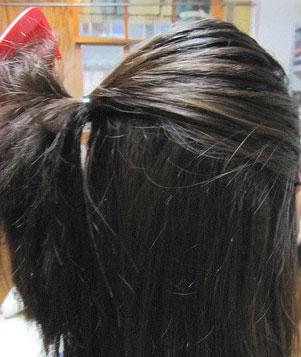 韩式发型盘法