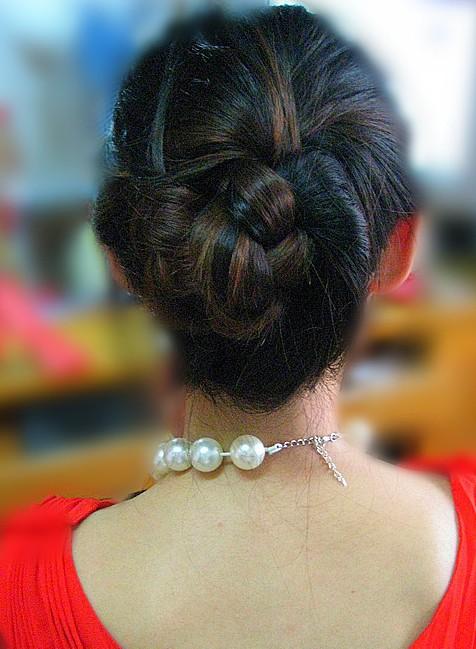 韩式盘发(四)
