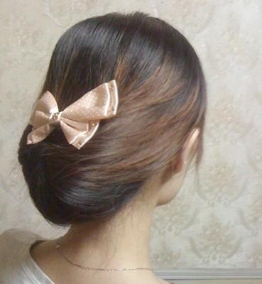 韩式盘发的方法