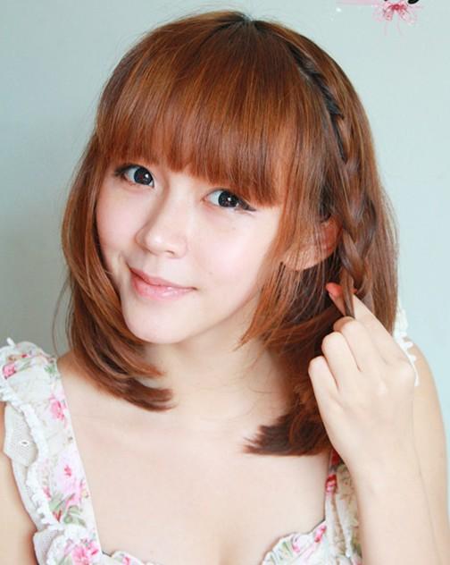 中短发发型盘法