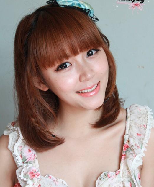 中短发发型盘法(五)