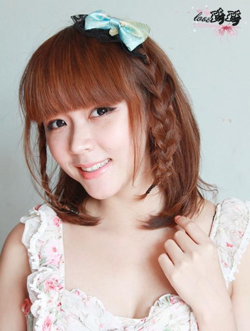 中短发发型盘法(七)