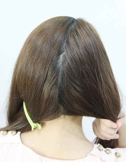 盘发的方法图解
