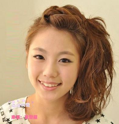 中长发盘发的方法(三)