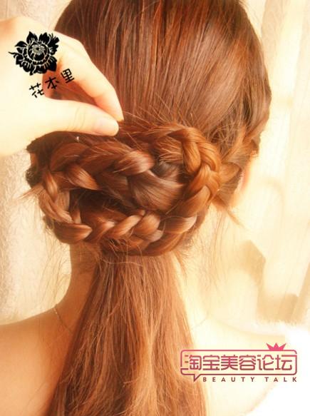 韩式发型盘法(四)