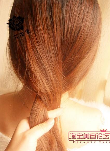 中长发发型盘法