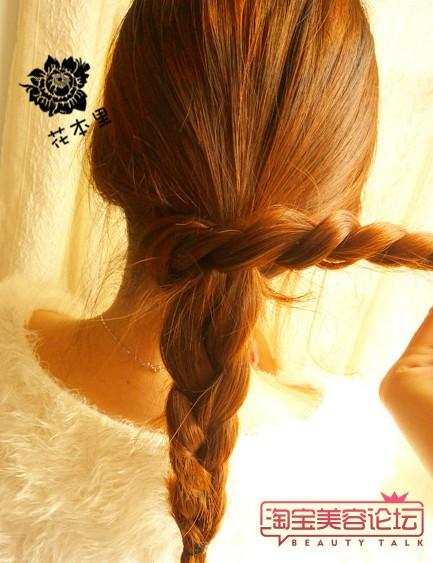 长头发的盘法图解(三)