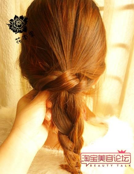 长头发的盘法图解(四)