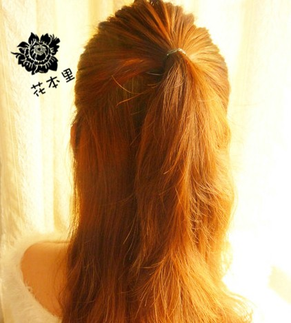 盘长头发的方法图解