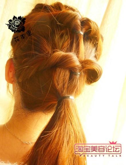 盘长头发的方法图解 (三)
