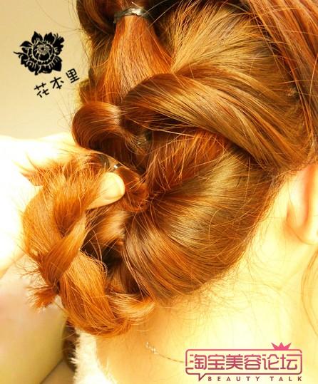 盘长头发的方法图解 (四)