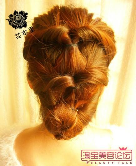 盘长头发的方法图解 (五)