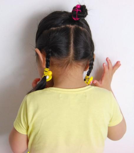 儿童盘发的方法图解