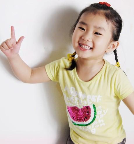 儿童盘发的方法图解(四)