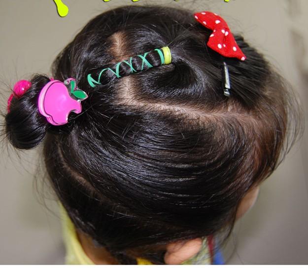 儿童盘发的方法图解(五)
