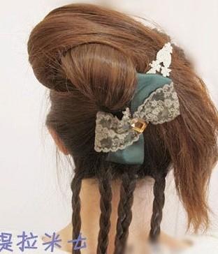 这样的韩式盘发方法你会吗?