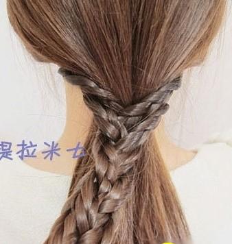 这样的韩式盘发方法你会吗?(七)