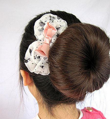 第三款:可爱的韩式包包头的盘法