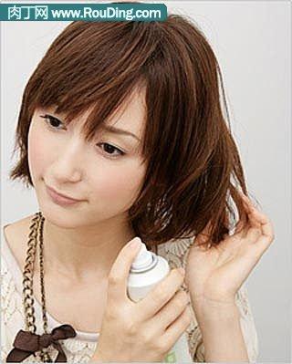 分享漂亮短发的盘法(七)
