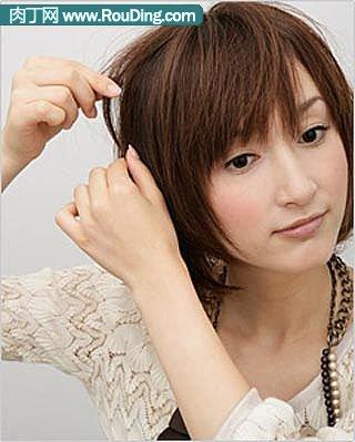 分享漂亮短发的盘法(九)