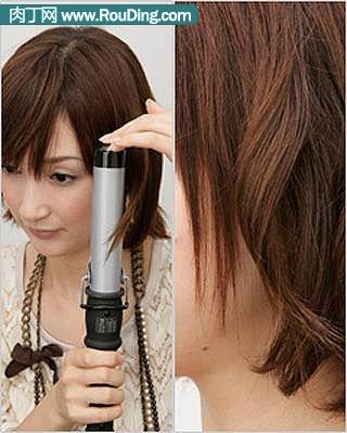 分享漂亮短发的盘法(五)