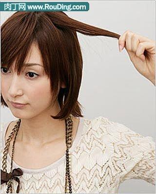 分享漂亮短发的盘法(二)
