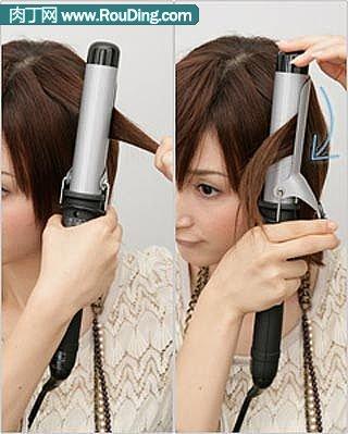 分享漂亮短发的盘法(三)