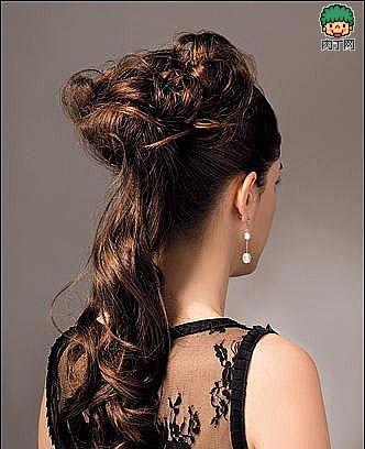 4款优雅的复古盘发方法(三)