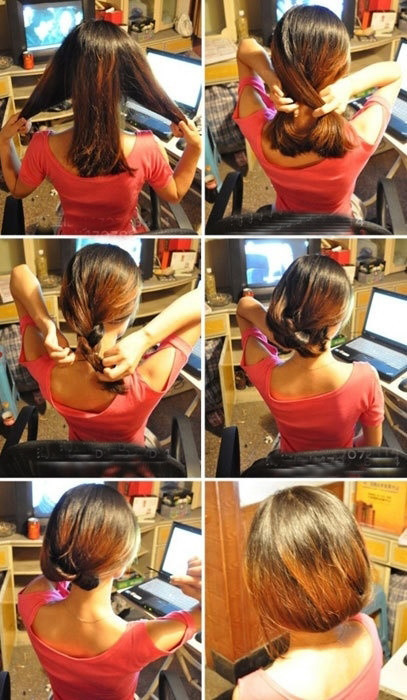 盘头发的40种方法 你会几种?(一一)