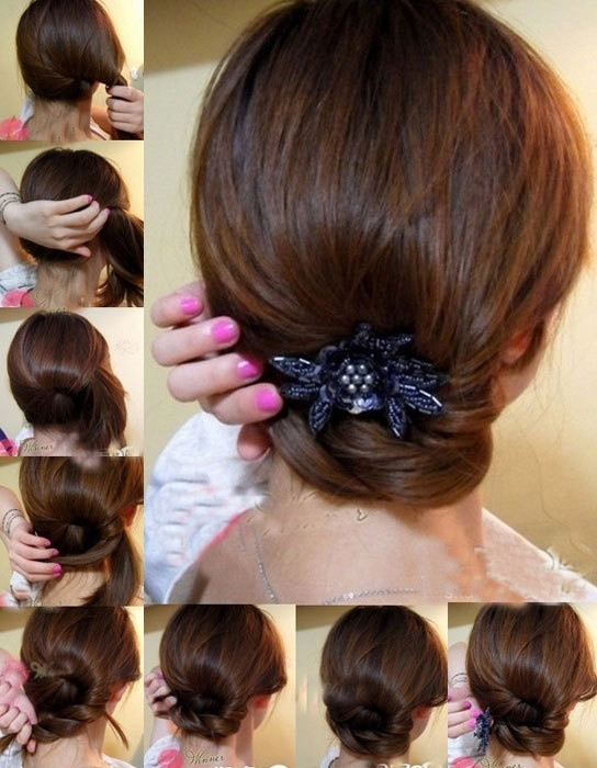 盘头发的40种方法 你会几种?(一二)