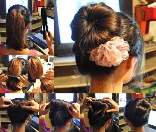 盘头发的40种方法 你会几种?(一七)