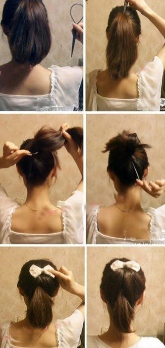 盘头发的40种方法 你会几种?(一八)