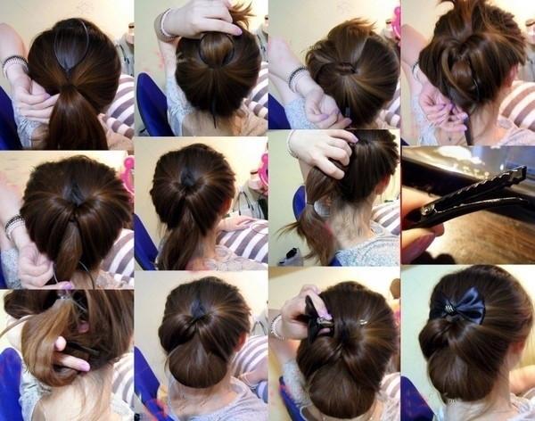 盘头发的40种方法 你会几种?(二十)