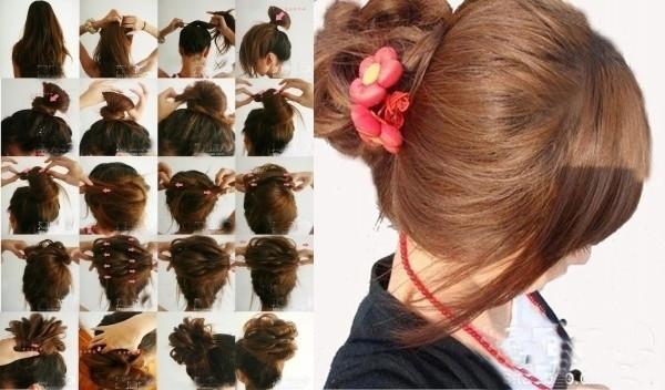 盘头发的40种方法 你会几种?(二六)