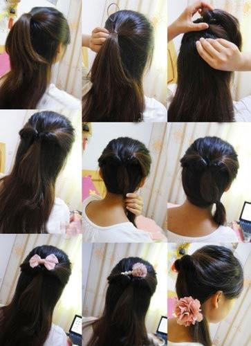 盘头发的40种方法 你会几种?(二九)
