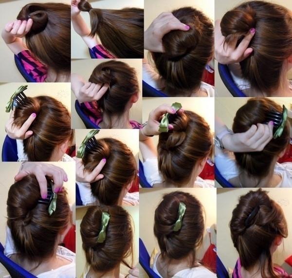 盘头发的40种方法 你会几种?(三十)