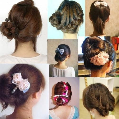 盘头发的40种方法 你会几种?(三二)