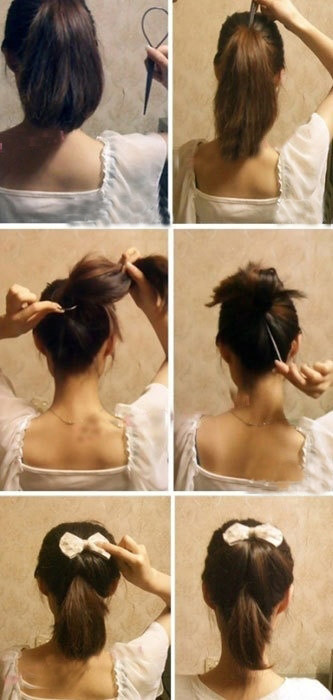 盘头发的40种方法 你会几种?(三四)