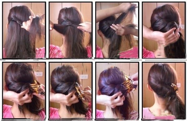 盘头发的40种方法 你会几种?(三六)