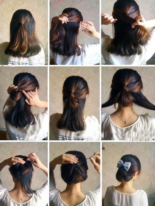 盘头发的40种方法 你会几种?(三九)